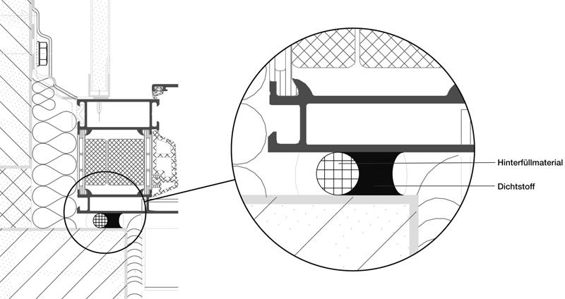 3 Einsatzbeispiele in IVD-Merkblatt 22 - Anschlussfugen im Stahl- und Aluminium-Fassadenbau sowie konstruktiven Glasbau auf www.abdichten.de