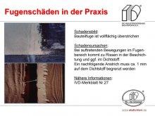 Fugenschäden in der Praxis: Bauteilfuge ist vollflächig überstrichen