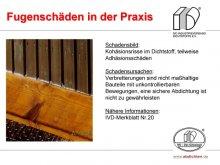 Fugenschäden in der Praxis: Kohäsionsrisse im Dichtstoff, teilweise Adhäsionsschäden