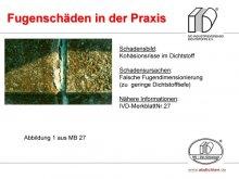 Fugenschäden in der Praxis: Kohäsionsrisse im Dichtstoff