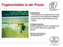 Fugenschäden in der Praxis: nicht fachgerecht ausgeschäumte Fugen / Ausbrüche an der Baukörper-Haftfläche / keine korrekte Fugendimensionierung möglich