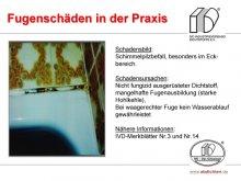 Fugenschäden in der Praxis: Schimmelpilzbefall, besonders im Eckbereich