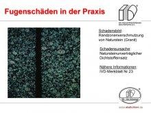 Fugenschäden in der Praxis: Randzonenverschmutzung von Naturstein (Granit)
