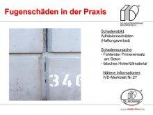 Fugenschäden in der Praxis: Adhäsionsschäden (Haftungsverlust)
