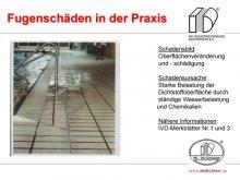 Fugenschäden in der Praxis: Oberflächenveränderung und Oberflächenschädigung