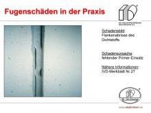 Fugenschäden in der Praxis: Flankenabrisse des Dichtstoffs