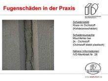 Fugenschäden in der Praxis: Risse im Dichtstoff (Kohäsionsschäden)