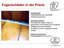 Fugenschäden in der Praxis: Flankenabrisse des Dichtstoffs (Adhäsionsschaden)