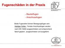 Fugenschäden in der Praxis: Bauteilfugen und Anschlussfugen